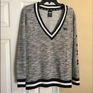 (EUC) VS Pink v-neck sweatshirt SZ XS